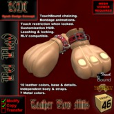 KDC Leather Paw Mittens