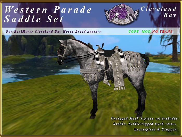 *E* RealHorse Western Parade Saddle Set [BOXED] RHCB