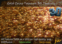JU Gold Coins Treasure 3D Textures Full Perm