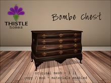 Thistle Homes - Bombe Chest Dark Wood