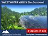 Sim Surround Landscape SWEETWATER (Full Sim Surround, off-sim hills, meadows, fir & pine trees, seasons, forrest)