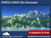 Sim Surround Landscape PORTO COAST (Full Sim Surround, off-sim rocks, mountains, cliffs, forrest, fir trees)