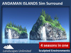 Sim Surround Landscape ANDAMAN ISLANDS (Full sim surround environment, off-sim waterfalls, palm trees, rocks)