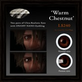 Eyes - 'Warm Chestnut' by Trimmer Bay