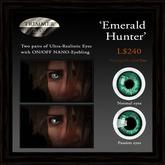 Eyes - 'Emerald Hunter' by Trimmer Bay