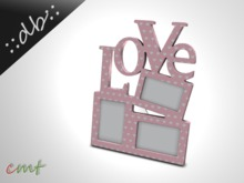 ::db:: Mesh Love Tabletop Picture Frames rose w hearts