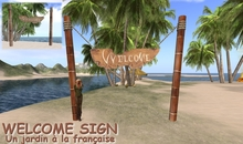 WELCOME SIGN - tiki signs - beach signs