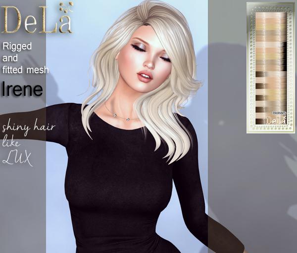 """=DeLa*= Mesh Hair """"Irene"""" Blondes"""