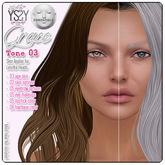 *YS&YS* Grace Tone 03 Skin Applier for Lelutka Heads all tone