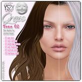 *YS&YS* Grace Tone 02 Skin Applier for Lelutka Heads all tone