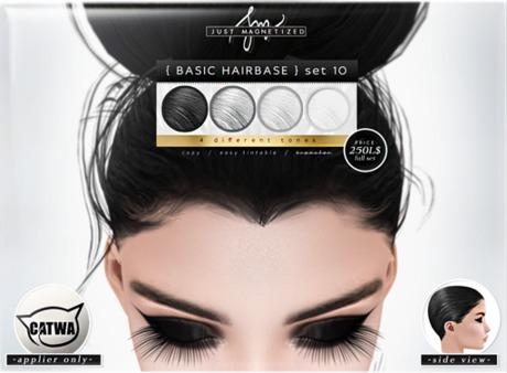 Just Magnetized - Basic Hairbase - set 10 for CATWA