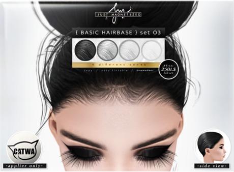 Just Magnetized - Basic Hairbase - set 03 for CATWA
