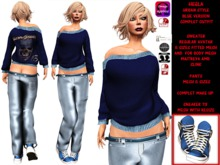 **HEGLA BLUE VERSION URBAN STYLE COMPLET OUTFIT **