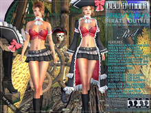 Bella Moda: Attrezzatura Pirata Red Pirate Outfit - Fitted Mesh for Maitreya/Slink/Classic+Std Sizes - FULL