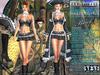 Bella Moda: Attrezzatura Pirata Black Pirate Outfit - Fitted Mesh for Maitreya/Slink/Classic+Std Sizes - FULL