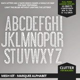 CLUTTER - Mesh Kit - Marquee Alphabet