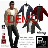 DEMO-RICKY CASUAL JACKET,shirt multi- Jeans