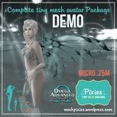 DEMO .:pixies:. Alexis micro .25m mesh COMPLETE AVATAR KIT