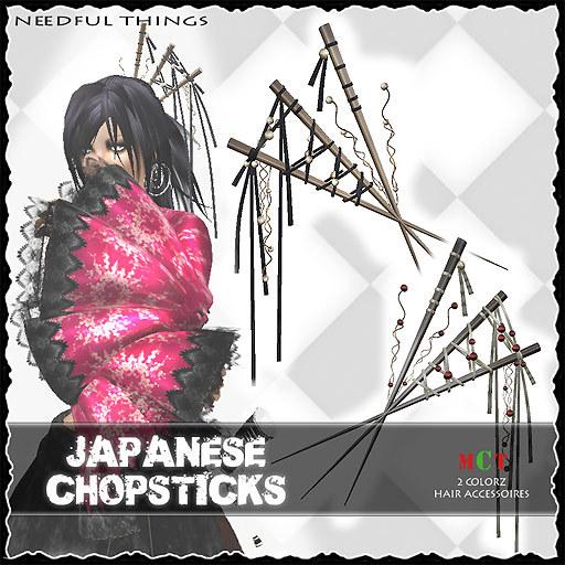 *NT* japanese CHOPSTICKS (neko punk ninja goth style)