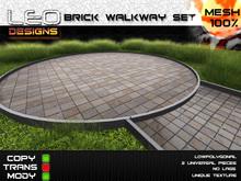 Brick walkway set