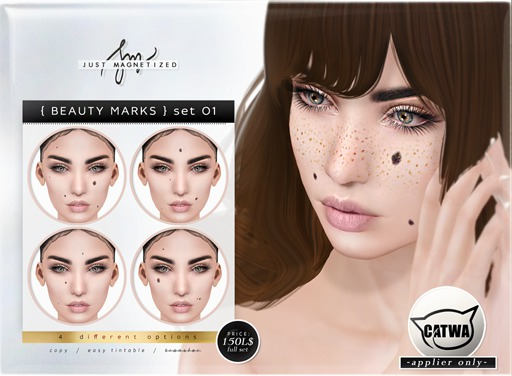 Just Magnetized - Beauty Marks - set 01 for CATWA