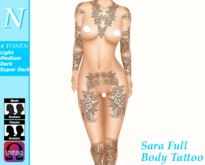 -Natti- Sara Full Body Tattoo Omega (Unisex)