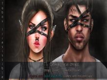 Grunge Face strap - Black Silver