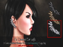 ::TI:: Diamond Ear cuffs - Silver {Add me}