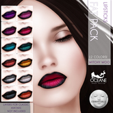 Oceane -Witchy Woo Lipsticks Fat Pack- Lelutka
