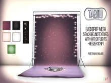 TABOU. Backdrop /w light