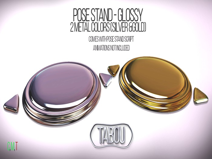 TABOU. pose stand( silver&gold)