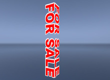 "[NEW] ""FOR SALE"" SIGN (Rotating) - TRANSFER VERSION -- DISCOUNT --"