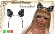 [MF] Mesh bunny emo punk headband black (boxed)