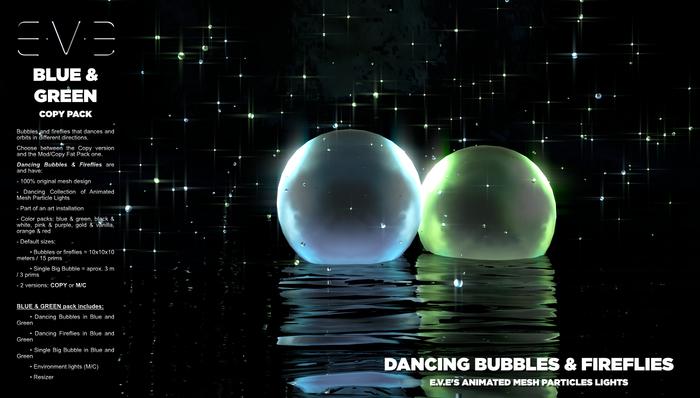 Dancing Bubbles & Fireflies {Blue & Green Pack}