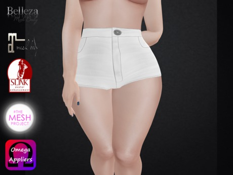 .::.What2Wear.::.  Short jeans White