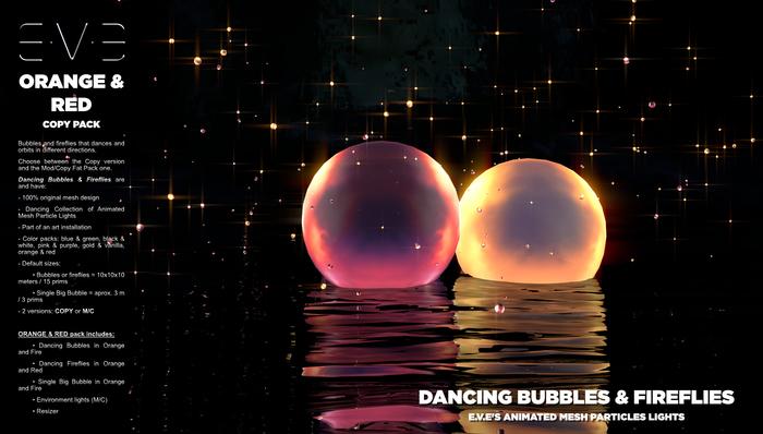 Dancing Bubbles & Fireflies {Orange & Red Pack}