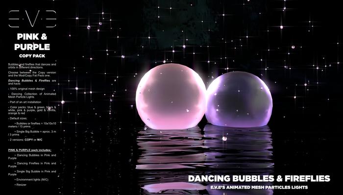 Dancing Bubbles & Fireflies {Pink & Purple Pack}