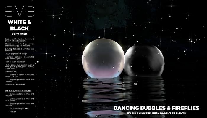 Dancing Bubbles & Fireflies {White & Black Pack}