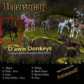 UN - D'aww Donkey, Rezable (Black)