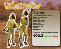 Feathery Velociraptor Avatars