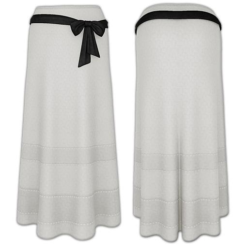Ducknipple - Long Skirt v1 White