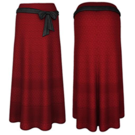Ducknipple - Long Skirt v1 Red