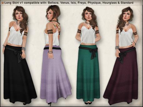 Ducknipple - Long Skirt v1 [DEMO]