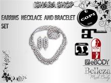 DELUXE  SET EARRINS NECKLACE AND BRACELET
