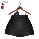 {MYNX} High Waist Shorts - Black Denim