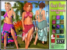 Beach Party Halter Top and Sarong Skirt with Texture Changing Hud