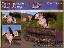*E* RealHorse Photography Pose Jump RH 15.2 [BOXED] Triple Logs