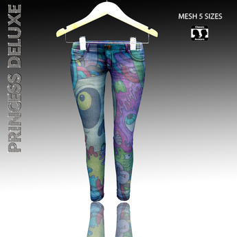 :.P.D.:Skinny Jeans  Monsters-Realistic Real / Mesh 5 Sizes