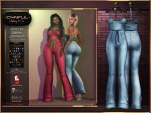 [Cynful] Hipster Denim Jumpsuit - Light Denim [Maitreya Lara, Belleza (Isis, Freya + Venus), Slink (Physique + Hourglass