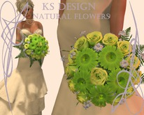 "KS Design: Bouquet of roses and gerberas ""Excellence""#14"